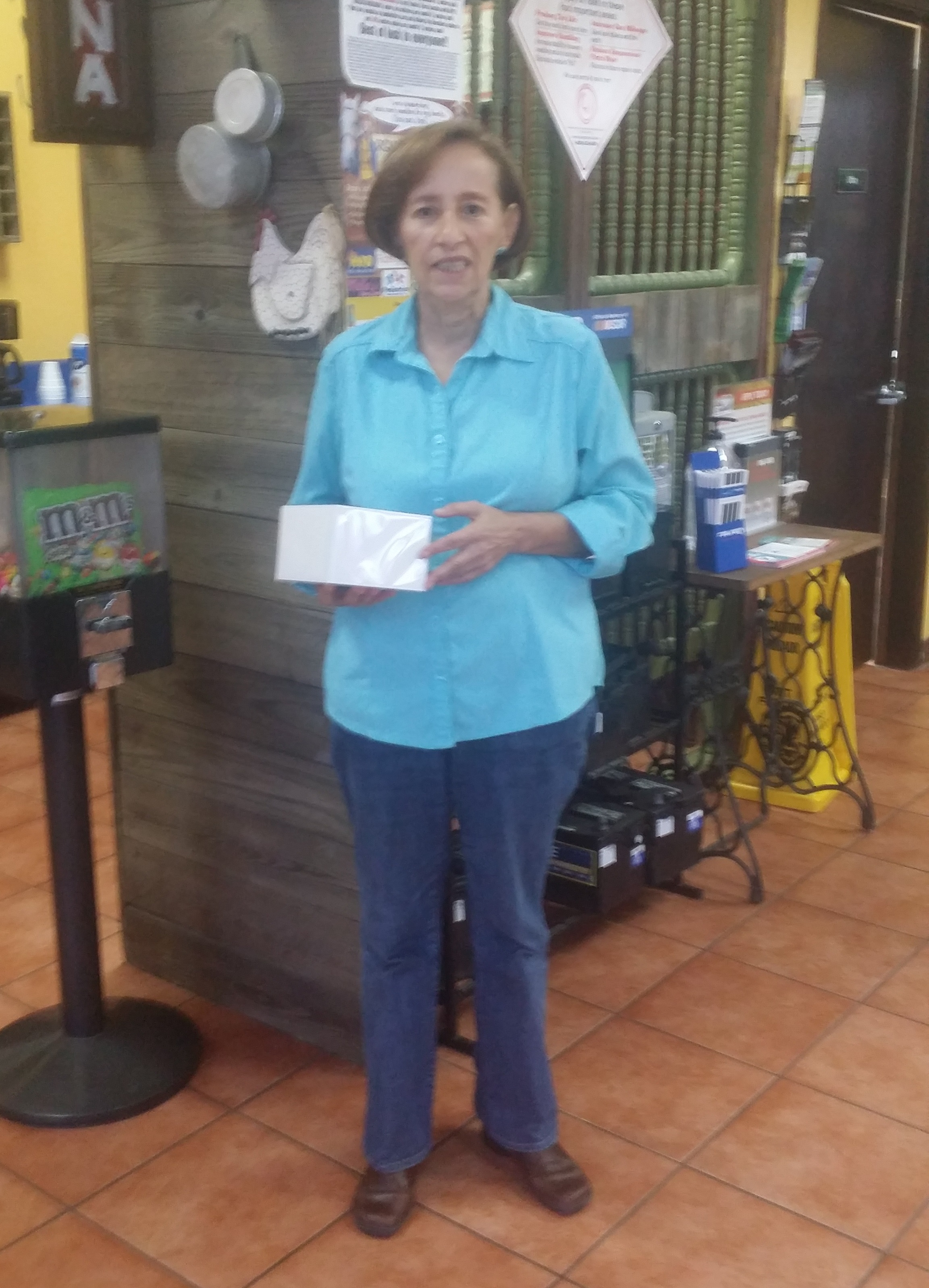 Pueblo Tires July iWatch Giveaway Winner - Congratulations Maria Barrick at the Mission, TX location